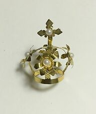 """Catholic Ornate faux jeweled Crown for holy statue 1"""" at the base –A"""
