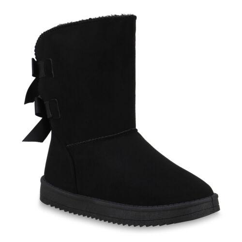 Damen Stiefeletten Schlupfstiefel Warm Gefütterte Winter Stiefel 825121 Schuhe