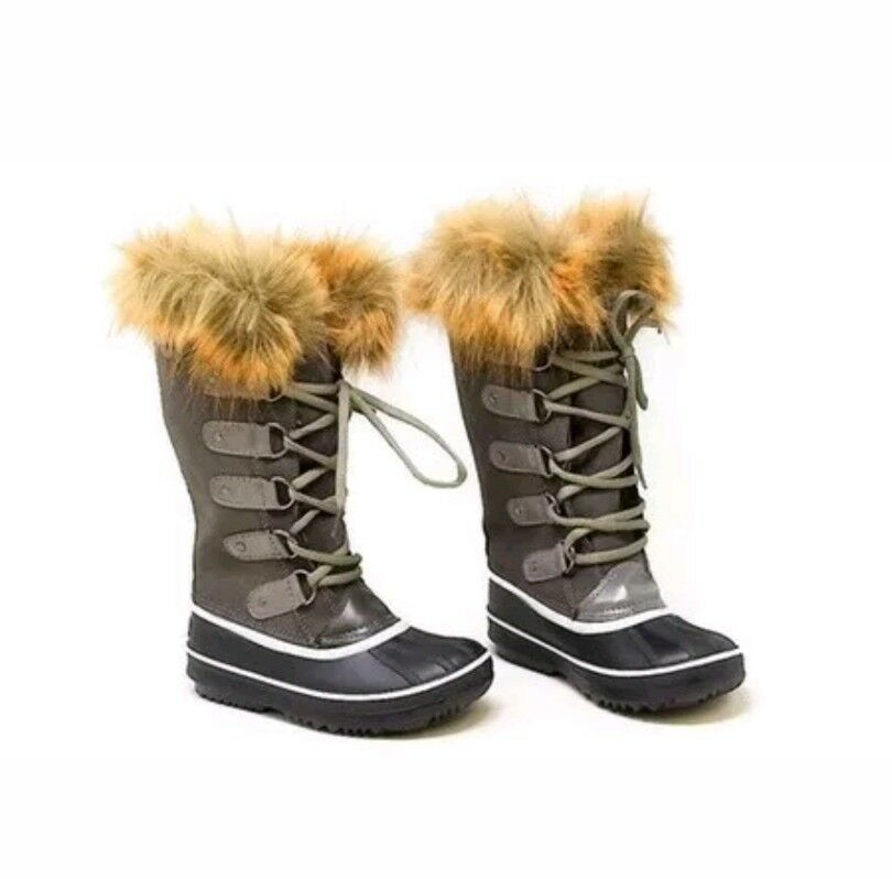 NEW Mata Women's Fur Insulated Cold Weather Boots size 7 Grey