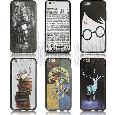 Harry Potter Durable black side Case for Iphone 6 4.7 inch 02001