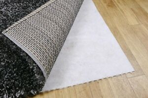 Image Is Loading New Non Slip Carpet Rug Underlay Dual Fleece