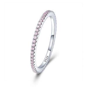 Modern-Fashion-Women-Minimalist-925-Sterling-Silver-CZ-Ring-Jewelry-Size-6-8