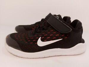 Nike-Free-RN-2018-Black-White-Racer-Pink-Volt-AH3455-001-Girls-Athletic-Shoe-12c