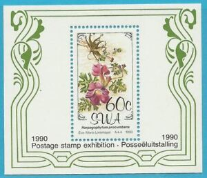 RéAliste Sud-ouest De L'afrique De 1999 ** Poste Bloc 11-fleurs!-afficher Le Titre D'origine
