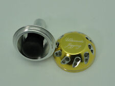 UJ 40mm Knob w/o Bearing for 2014 AERO Technium XS, Daiwa Reels Pale-Gold/Silver