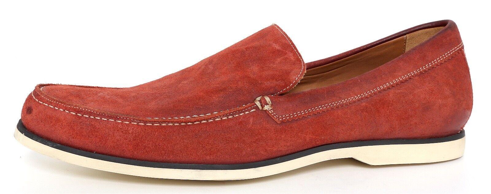 John Varvatos Slip On Suede Loafers Red Men Sz 12 1557