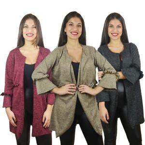 61574798cad491 ... Cardigan-donna-lungo-coprispalle-giacca-maglione-senza-chiusura-