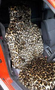 SEMI FIT A FIAT 500C CAR i SEAT COVERS TIGER 1 FAUX FUR FULL SET