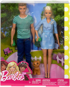 Barbie and Ken Dolls with Puppy Playset
