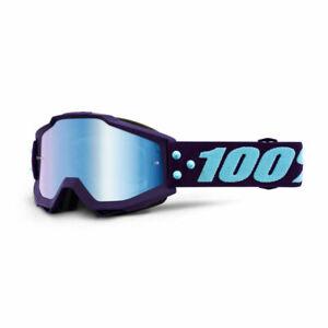 100% ACCURI GOGGLES MANEUVER MIRROR BLUE & CLEAR LENS MOTOCROSS MX CHEAP NEW MTB