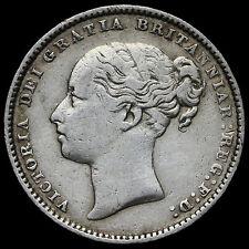 1884 Queen Victoria Young Head Silver Shilling – AVF / GF