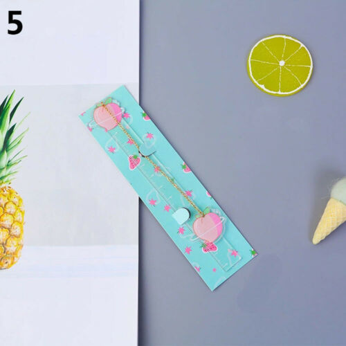 Kawaii Planet Pendant Book Mark Cute Fruit Avocado Ruler Bookmark For Kids