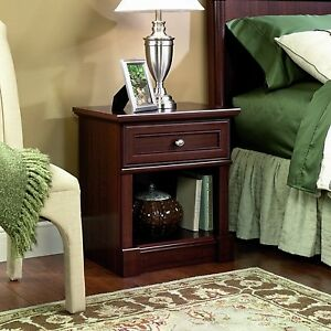 Sauder Palladia Night Lamp Stand Bedside Table Cherry