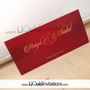 Asian Wedding Card Sample Personalise Indian Sikh Muslim Hindu Ebay