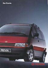 Toyota Previa Prospekt 3 93 brochure 1993 Auto PKWs Japan Autoprospekt Asien car