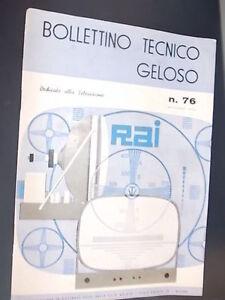 BOLLETTINO-TECNICO-GELOSO-Autunno-1959-n-76-DEDICATO-AI-TELEVISORI