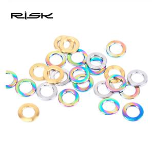 RISK 10pcs M5 M6 Titanium Bolt Spacer Bicycle Stem Brake Screw Washers Gasket