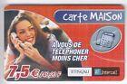FRANCE TELECARTE / PHONECARD PREPAYEE .. 7€50 TISCALI INTERCALL FILLE SEXY +N°