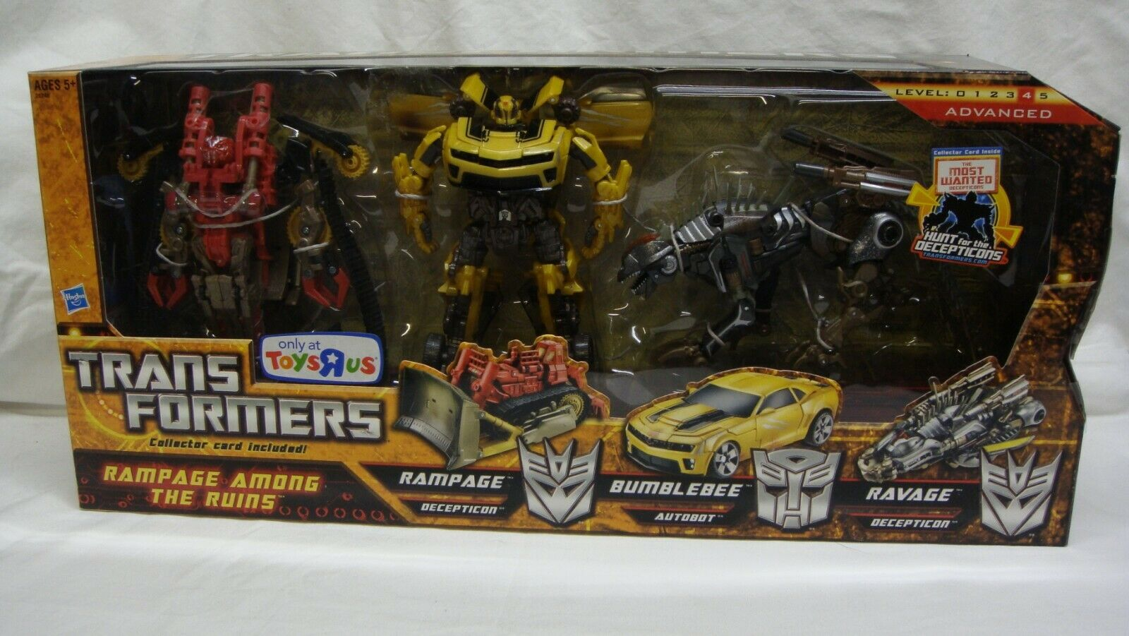TRANSFORMERS HUNT FOR THE DECEPTICONS HFTD RAMPAGE AMONG THE RUINS TRU NEAR MINT