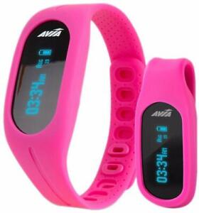 Avia-TEMPO-App-Based-Fitness-Tracker-Duo-Wear-Wristband-and-Belt-Clip-Pink