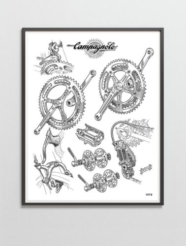 Nuovo Record groupset poster 1973 Campagnolo Record