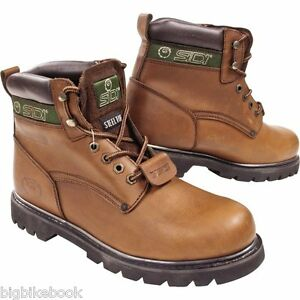 sidi-land-motorcycle-boots-MOTORBIKE-steel-toe-brown-uk-9-5-10