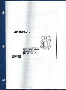 topcon rotating laser rl h2sa instruction manual ebay rh ebay com User Manual PDF User Manual Icon