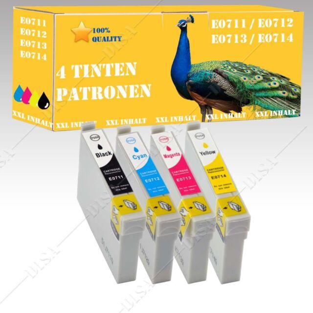 4x non-original kompatible Tintepatronen für Epson Stylus D120 DX4000 DX4050