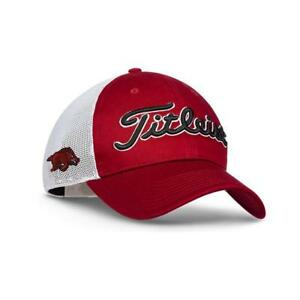 Image is loading Titleist-Tour-Snapback-Mesh-Cap-Arkansas-Red d024061c4cb9