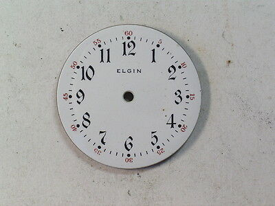 Antique 6/0 Size Elgin Watch Dial Arabic Numeral Red 5-60   D-21