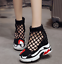 Details about  /Womens Round Toe High Creeper Heel Shoes Hidden Side Zip Hollow Roma Sandals New