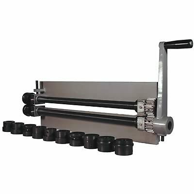 Woodward Sheet Metal Bead Roller Steel Gear Drive Bench Mount 18-Gauge Capacity