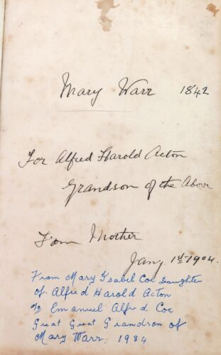 .1844 IMPORTANT EARLY BRISBANE PRAYER BOOK USED BY REV. WARR ST JOHNS CHAPEL.
