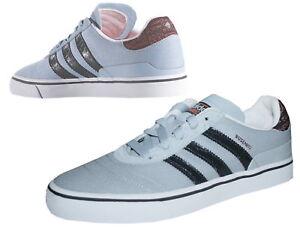 Adidas-Busenitz-Vulc-Sneaker-Skater-grau-Canvas-Damen-Herren-Gr-39-1-3-UK-6