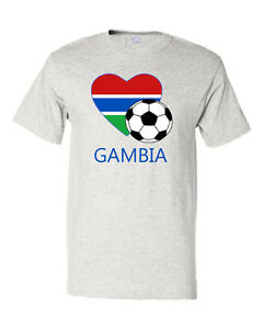 Gambian-Soccer-Gambia-Futbol-Football-Unisex-Cotton-T-Shirt-Tee-Top