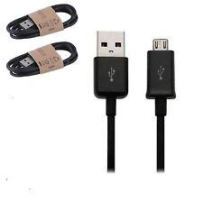 Confezione da 2 Nero Cavo Di Sincronizzazione Micro Usb Caricabatterie Per HTC a9 ONE m9 ONE m8s m8 DESIRE