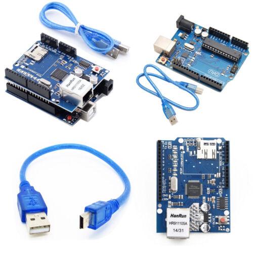 Uno r3 Board + Ethernet Shield w5100 SD slot extension tableau for Arduino AHS  | eBay