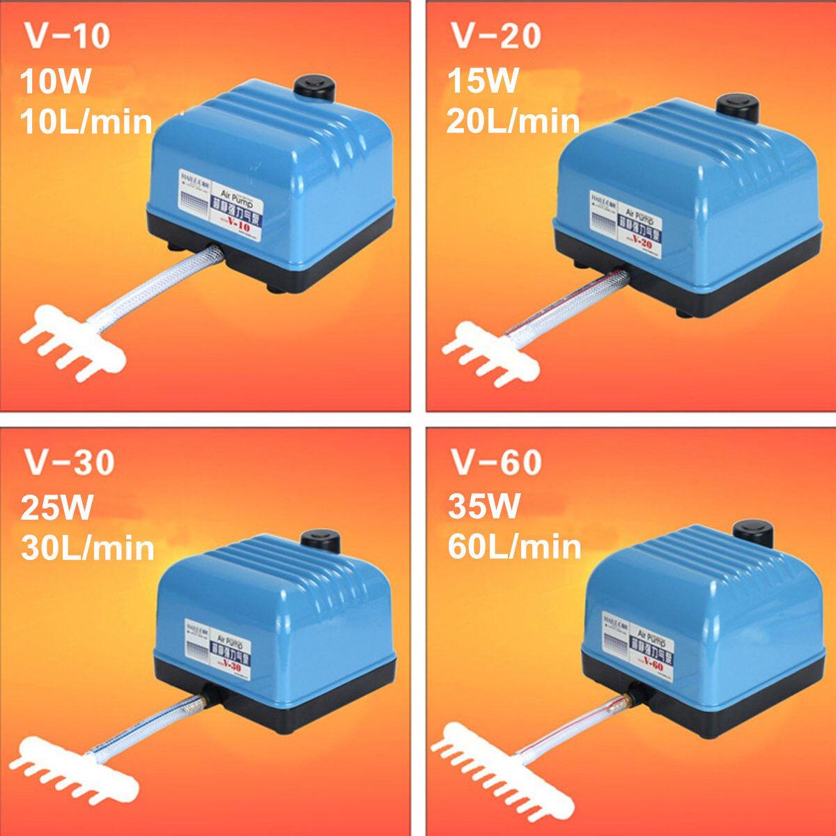 10152535W Elettrico Silenzioso Pompa Aria Acquario Pesce Serbatoio Stagno