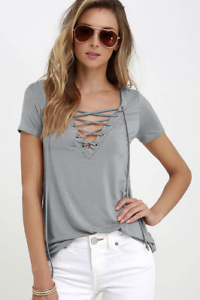 Sexy-Fashion-Women-V-Neck-Short-Sleeve-T-shirt-Casual-Loose-Blouse-Tops-Tee-2019