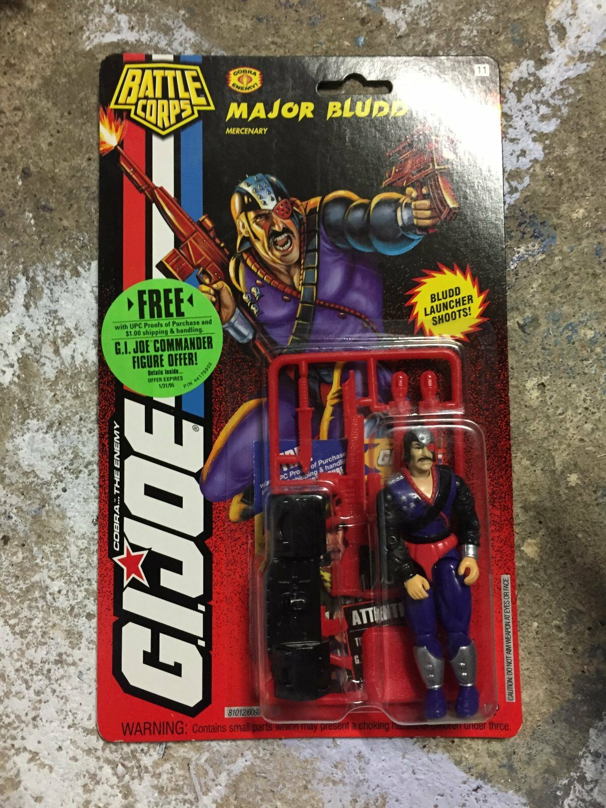 GI GI GI JOE Cobra Major Blaudd New Mint on Card Battle Corps MOC 0d7a2a
