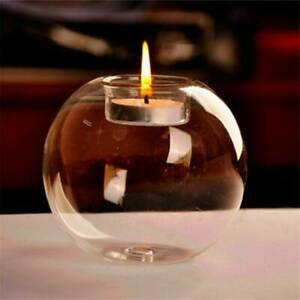 Home-Round-Crystal-Glass-Candle-Holder-Wedding-Bar-Party-Dinner-Candlestick
