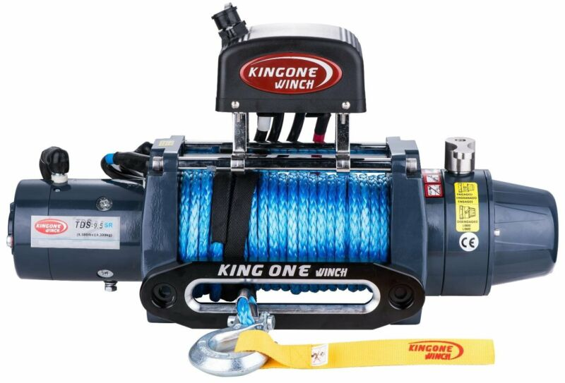 Avenger Winches  with Synthetic Rope or steel cable for your 4x4 vehicle for Sale 9500lbs 1200lbs
