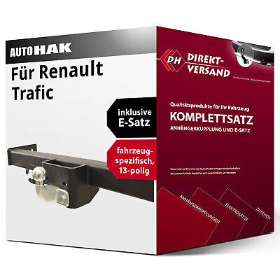 ELEKTROSATZ E-SATZ 13-polig für ANHÄNGERKUPPLUNG AHK Für Renault TRAFIC