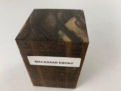 "Beautiful Macassar Ebony Wood  Bottle Stopper Blanks 2/"" x 2/"" x 3/""  FREE SHIP!"
