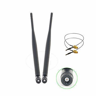 2 U.fl For Linksys EA4500 WRT160NL New 2 9dBi Dual Band RP-SMA WiFi Antennas