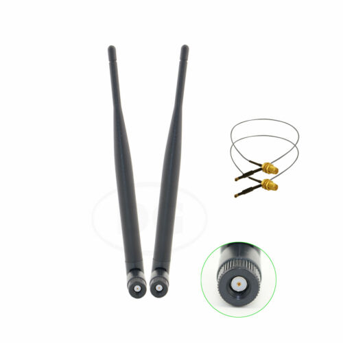 2 U.fl Cable Mod Kit for Buffalo WZR-HP-G450H 2 6dBi RP-SMA DB WiFi Antenna