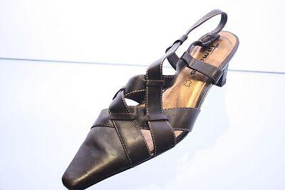 Tamaris Sling schwarz Leder Varioriemchen Flechtoptik Gr. 38 (UK 5) | eBay