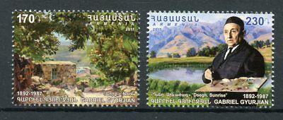 Asia Stamps Armenia 2017 Mnh Gabriel Gyurjian 125 Birth Anniv 2v Set Art Paintings Stamps Refreshing And Enriching The Saliva