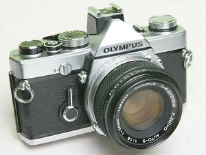 OLYMPUS-OM-1n-35mm-SLR-FILM-CAMERA-HOT-SHOE-4-GOOD-WORKING-CONDITION