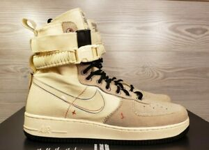 official photos 1c1f1 83d9e Details about Nike SF AF1 Air Force High Beige Black Fashion Sneaker Boots  AT4647 100 Size 12
